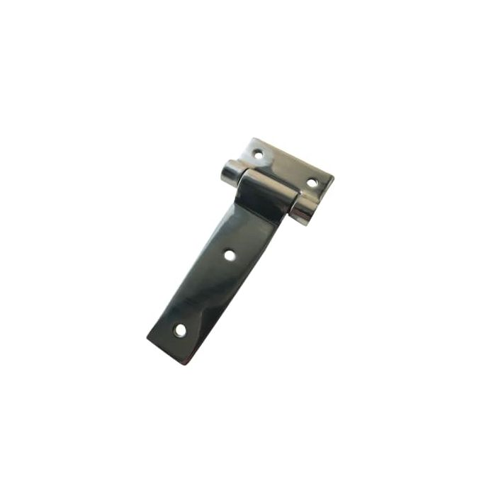 Polished Strap Hinge for Smoker door lid - Bolt on - 6 in x 3 in