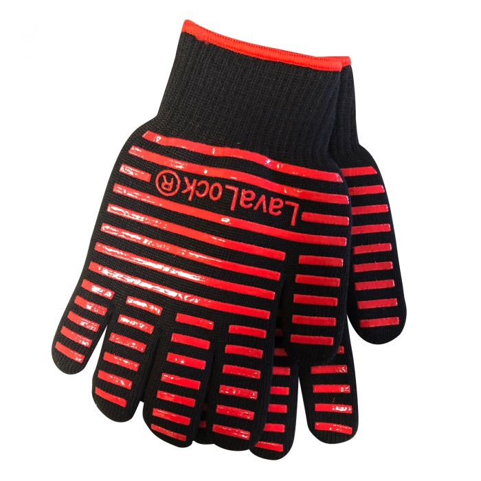 LavaLock® BBQ Grilling Cooking Heat Resistant Grill Gloves Kettle, Kamado, UDS
