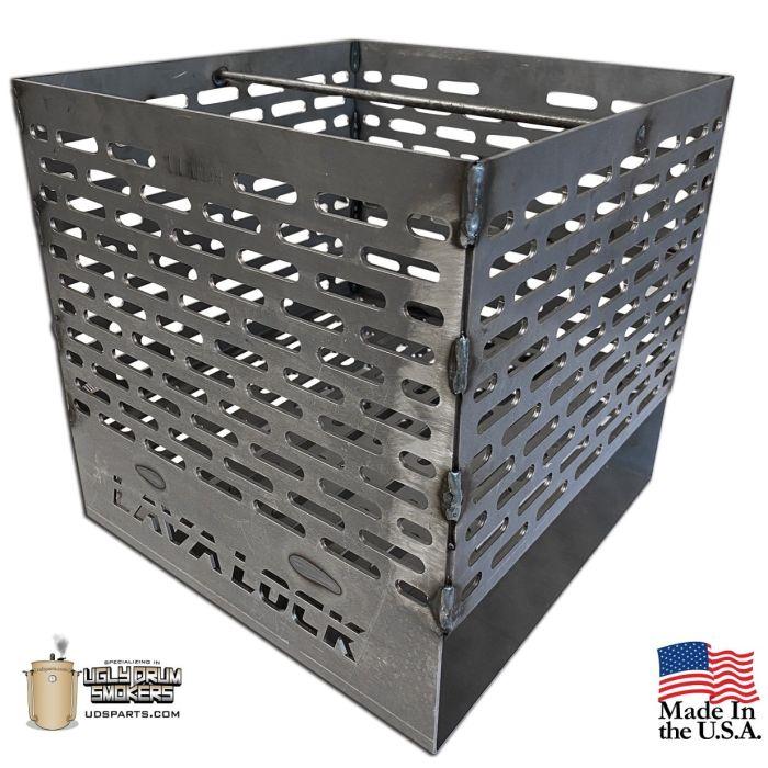 LavaLock® 12 x 12 x 12 Super PREMIUM EXPANDED Charcoal Basket
