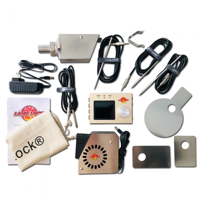 LavaLock® 4 probe 35 CFM BBQ Smoker Automatic Temp Controller