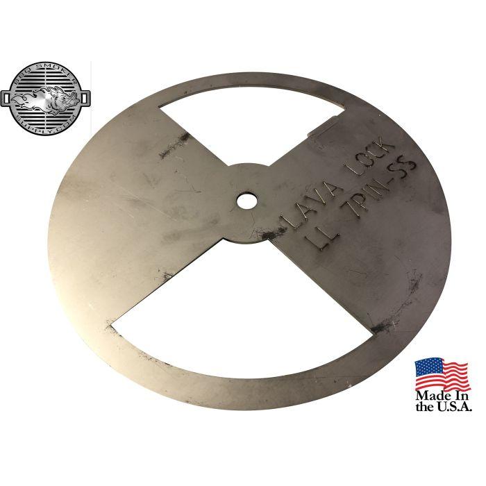 LavaLock® 7 inch Stainless Steel Pinwheel Damper for BBQ smoker intake or exhaust