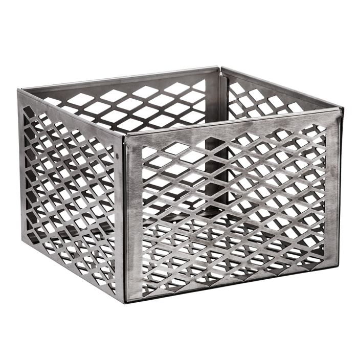Stainless 12 x 12 x 8 inch Charcoal Basket