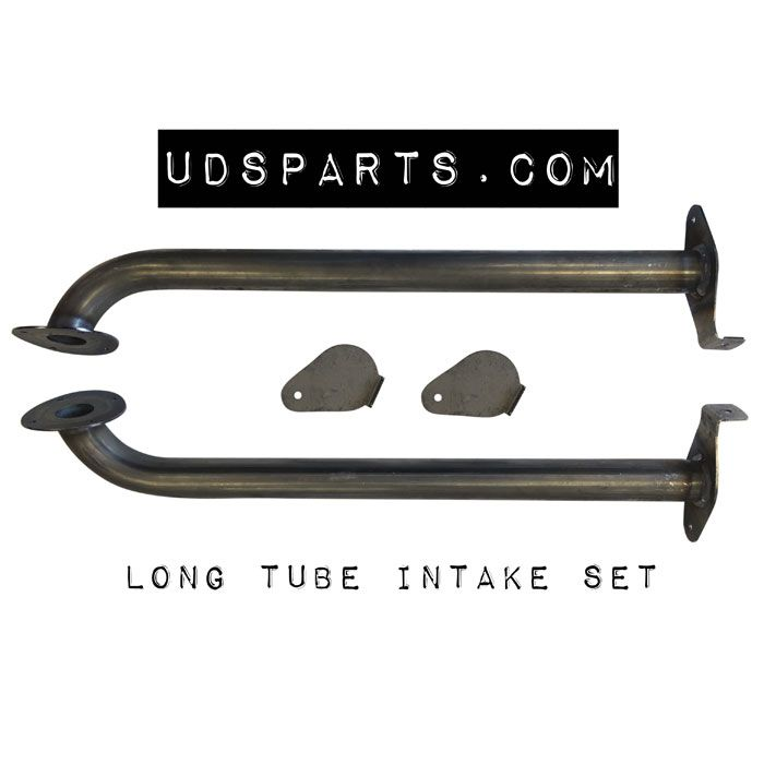 LONG TUBE 1-1/2 Stack Style Tear Drop Upright Air Inlet BOLT ON w/ blades
