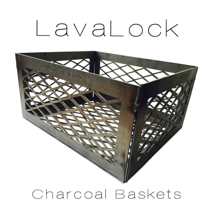LavaLock® 12 x 10 x 6 Super PREMIUM EXPANDED Charcoal Basket